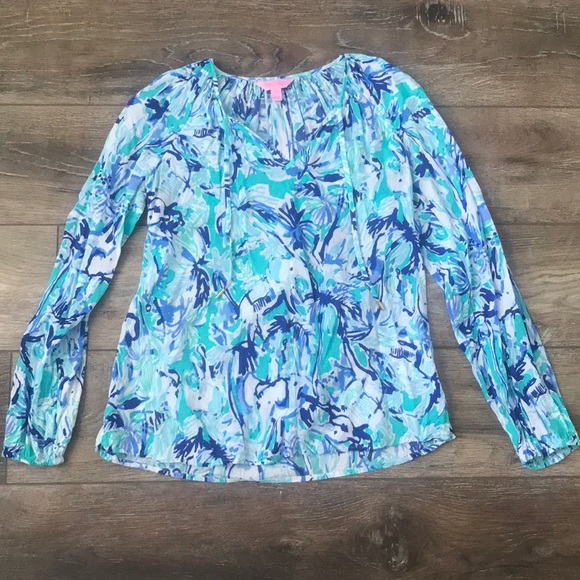 Lilly Pulitzer Tops - Lilly Pulitzer Willa Top